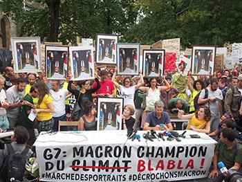 Journée festive pour le climat à la place Guichard
